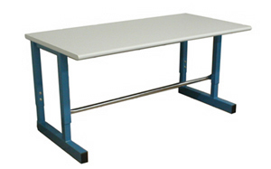 BenchPro D Series work table with optional footrest