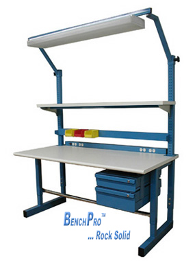 BenchPro Dewey workbench with options (Formica (TM) or ESD)